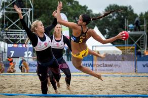 Beach handball was part of the last World Games in Poland in 2017. (The World Games)