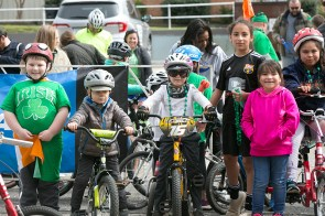 The kids were lined up and ready to cruise in the Alabama Power Lil' Shamrock ride. (contributed)