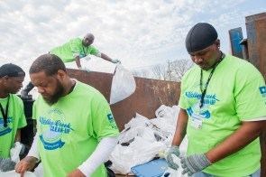 Renew Our Rivers cleanups bring people together for a good cause. The cleanups have been suspended through April because of concerns about spreading the COVID-19 coronavirus. (Wynter Byrd/Alabama NewsCenter)