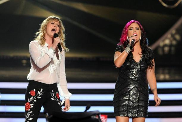 "Jessica Meuse, right, from Slapout, Alabama, finished fourth on the 13th season of ""American Idol."" (Getty Images)"