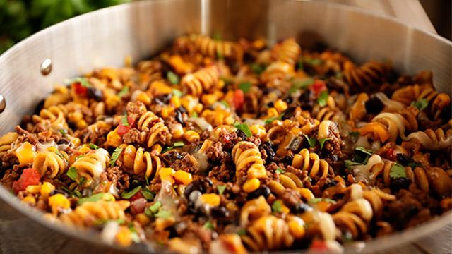 Recipe: One-Pan Taco Pasta