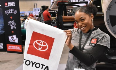 Toyota is among the vendors at the Bassmaster Classic Expo at the Birmingham-Jefferson Convention Complex. (Solomon Crenshaw Jr./Alabama NewsCenter)