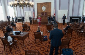 Alabama Gov. Kay Ivey said the stay-at-home order for the state remains in effect at least through April 30. (Hal Yeager/Governor's Office)