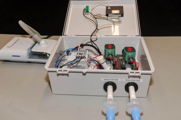 It takes about four hours and $700 to transform a CPAP machine into an emergency ventilator. (Auburn University)