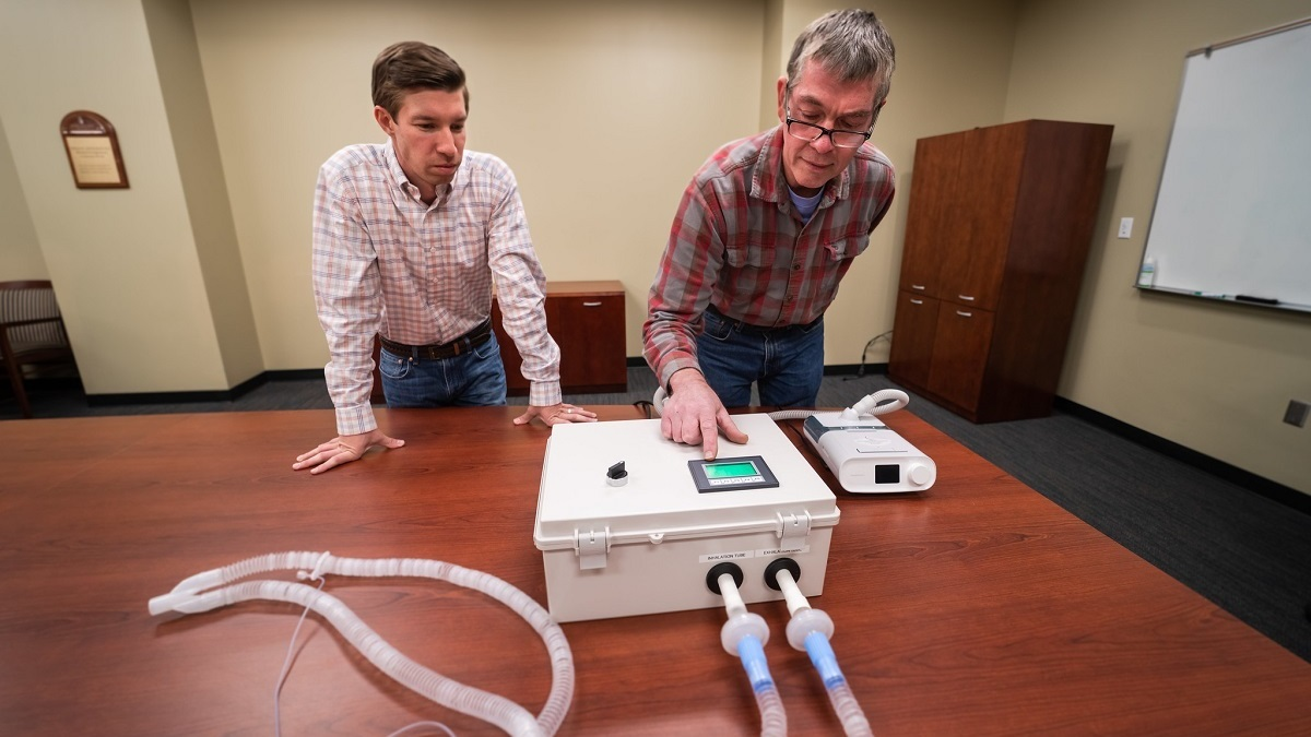 Auburn engineers repurpose CPAP machines into emergency ventilators