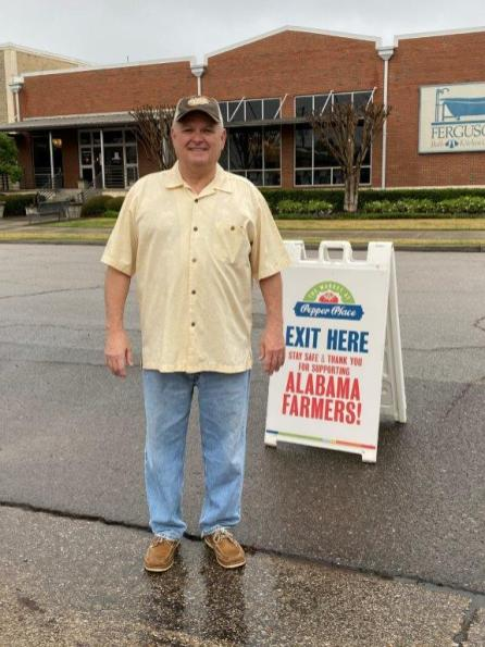 Alabama Agriculture Commissioner Rick Pate at the Pepper Place Drive-Thru Market. (contributed)