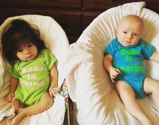 Ava Joye and her brother, Harvey, are two peas in a pod, their mother says. (Courtesy of Jennifer Hays)
