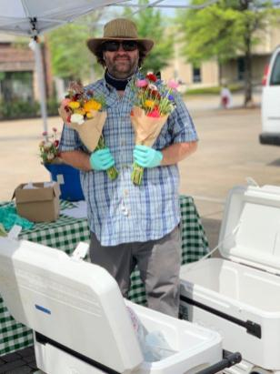 Ireland Farms participates in the Pepper Place Drive-Thru Farmers Market. (contributed)