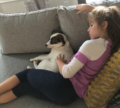 Diana Bailey bonds with her new friend, Lindsey. (Jeannine Bailey)