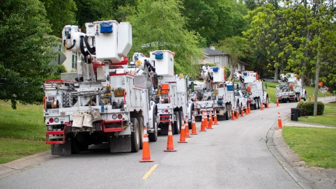 Alabama Power crews have restored service to 95 percent of customers who lost it during the Easter Sunday storms. (Dennis Washington / Alabama NewsCenter)