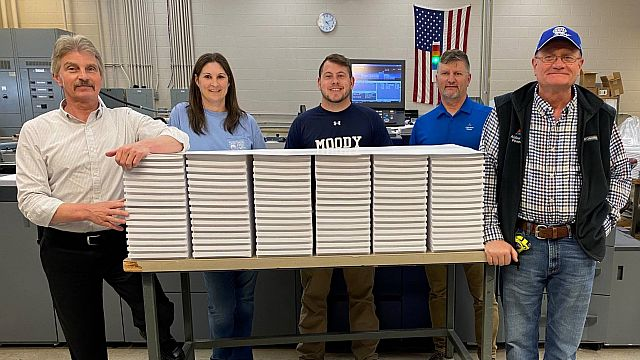 Birmingham city school students get help with long distance learning from Alabama Power Print Shop