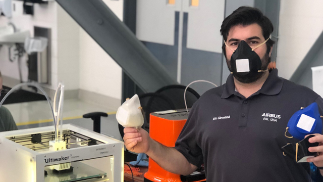 Airbus producing COVID-19 PPE University of South Alabama Health