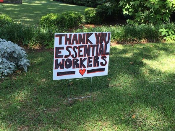 Residents of Wellington Road in Homewood's Mayfair neighborhood are showing support for those who help others. (contributed)