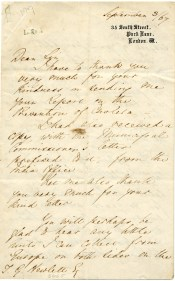 This 1867 letter from Florence Nightingale to Dr. Thomas Gillham Hewlett is one of 58 Nightingale letters in a collection at the University of Alabama at Birmingham's Reynolds-Finley Historical Library. (Courtesy of the Reynolds-Finley Historical Library, the University of Alabama at Birmingham)