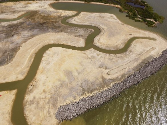 An aerial look at the marsh on the east side of Lightning Point as of May 7, 2020. (contributed)