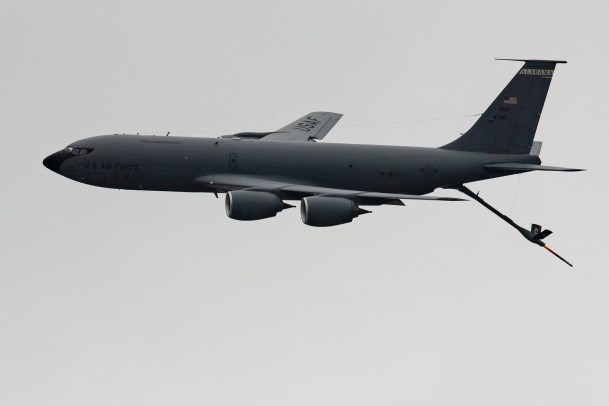 The 117th Air Refueling Wing of Birmingham participated in the Alabama National Guard's flyover tribute to health care workers. (Phil Free / Alabama NewsCenter)