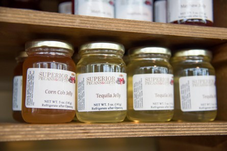 In addition to pecan-based treats, Superior Pecans offers a range of products such as jellies and dressings. (Brittany Dunn/Alabama NewsCenter)