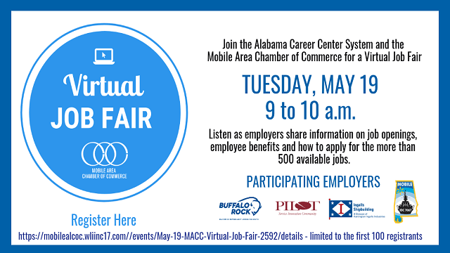 Mobile Area Chamber of Commerce to host virtual job fair on May 19