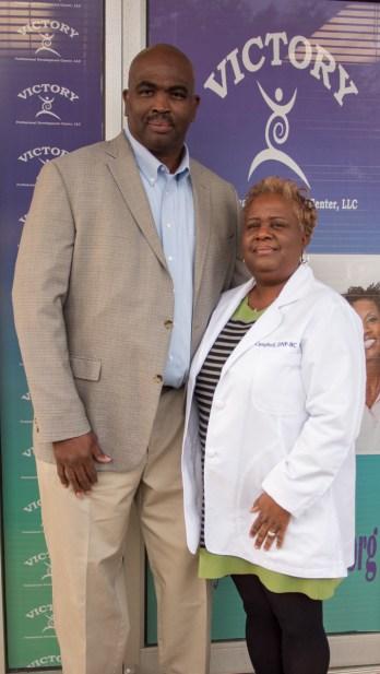 Suporior Campbell (left) and her husband, Leo, started Victory Professional Development Center in 2015. (Dennis Washington/Alabama NewsCenter)