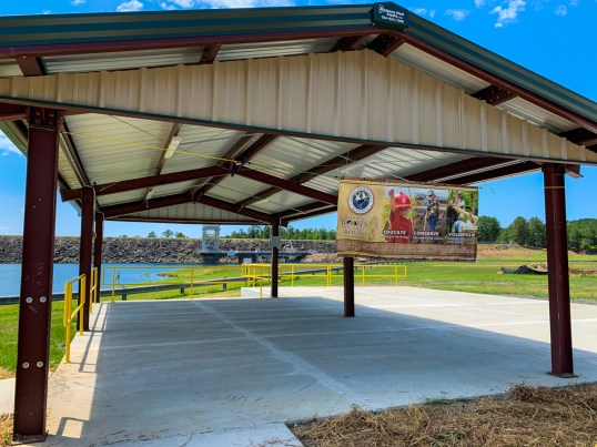 Fishermen and tournament staff now have a shaded place on Smith Lake to host their weigh-ins. (Dennis Washington / Alabama NewsCenter)