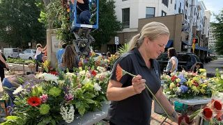 Florists decorate Birmingham Rotary Trail in an act of beauty and healing