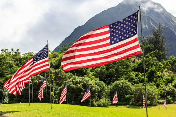 Hawaii joined the Union on August 21, 1959. The current 50-star flag was first flown on July 4, 1960. (Getty Images)