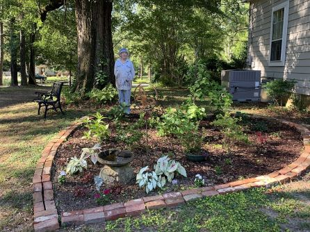Wilson created a memory garden in honor of her mother. (Donna Cope/Alabama NewsCenter)