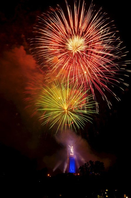 Birmingham's largest fireworks display at Vulcan Museum and Park. (Greg Harber)