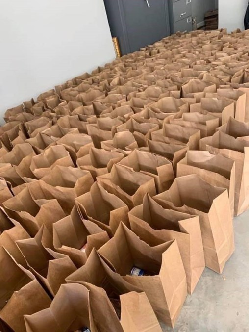 Titan Community Food Pantry has distributed more than 1,200 bags of food to schools and others since March. (contributed)
