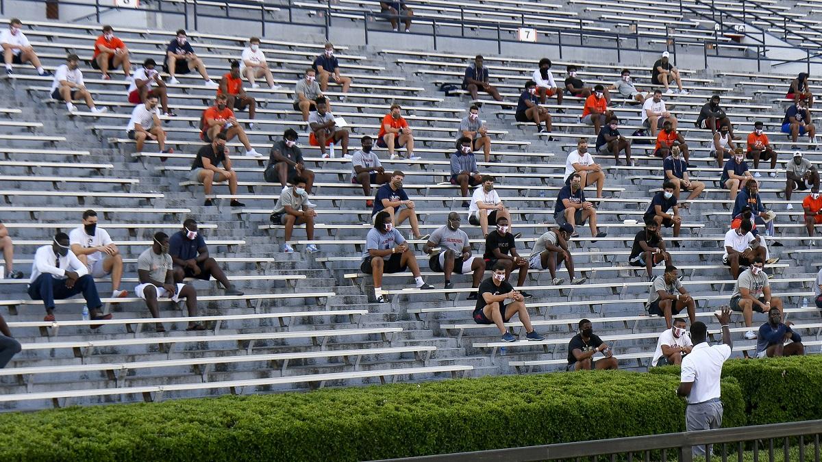 Auburn football players taking COVID-19 seriously