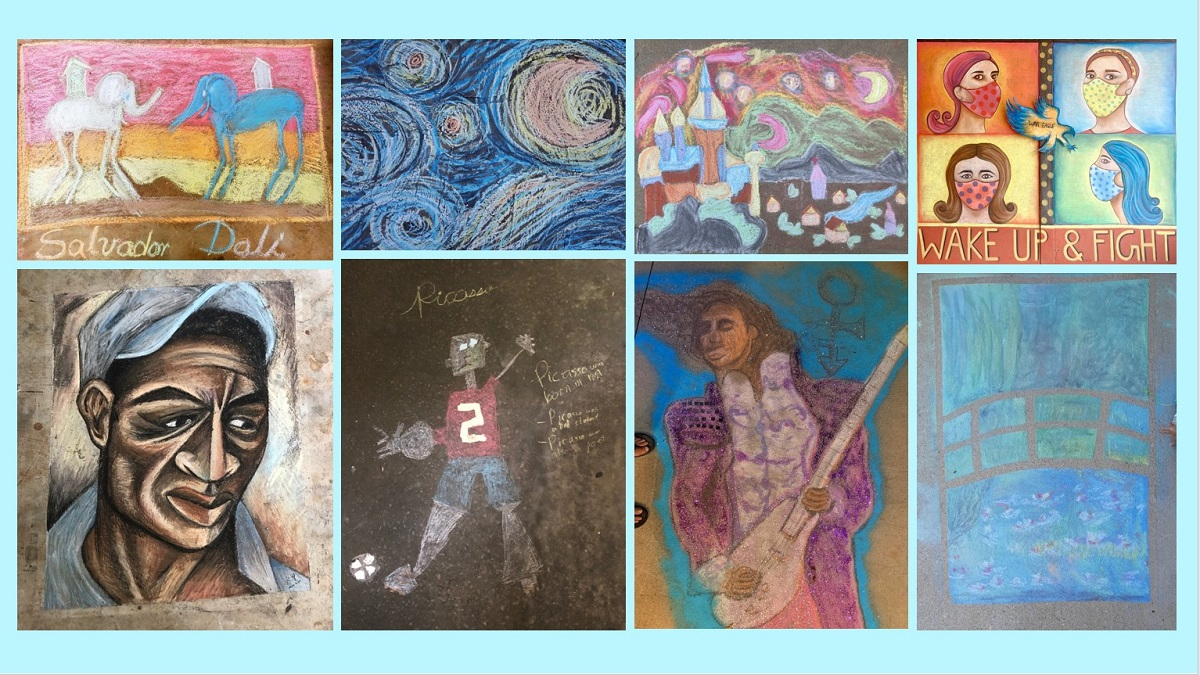 Chalk up Auburn's first virtual sidewalk art contest as a success