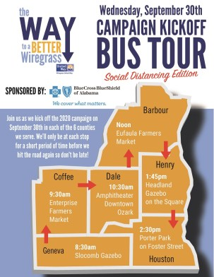 An invitation to Wiregrass United Way's 2020 bus tour. (contributed)