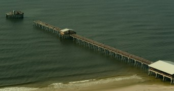 The Gulf State Park pier was severely damaged by Hurricane Sally. (Hal Yeager/Governor's Office)