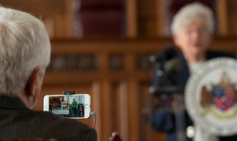 Gov. Kay Ivey announces she is extending the statewide mask requirement through Nov. 3, in part to ensure voter safety during elections. (Hal Yeager/Governor's Office)
