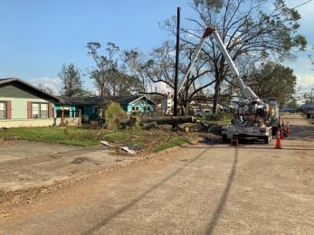 Alabama Power crews are now focused on the Lake Charles area of Louisiana with Hurricane Laura recovery efforts. (Alabama NewsCenter)