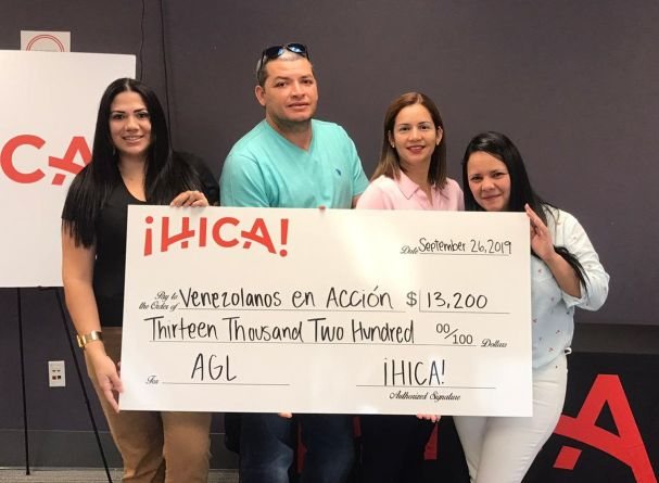HICA! gave a donation to the nonprofit Venezuelans in Action. (Deyse Lopez)