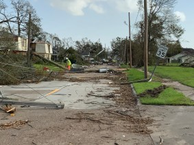 Alabama Power crews have been working to help victims of Hurricane Laura in Louisiana and Texas. (contributed)