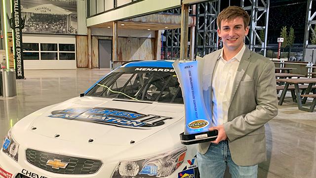 Alabama college student honored for winning 2020 ARCA Menards Series