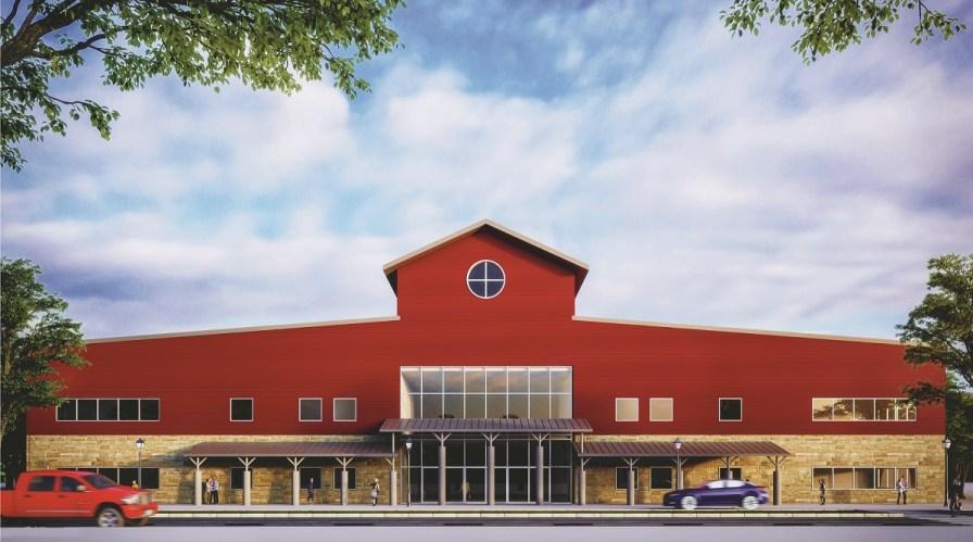 Artist's rendering of the Farm Center's multi-purpose building. (JMR+H Architecture)
