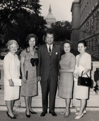 Martin with his wife, Patricia, second from left, and others in Washington. (contributed)