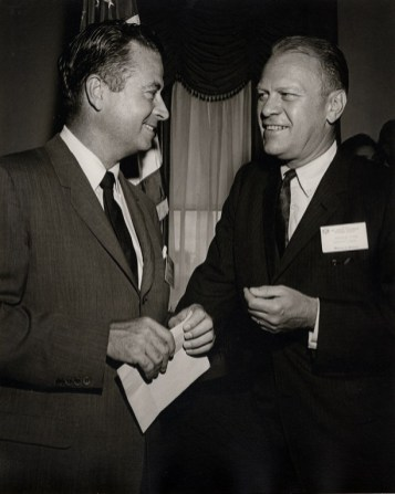Martin with Gerald R. Ford. (contributed)