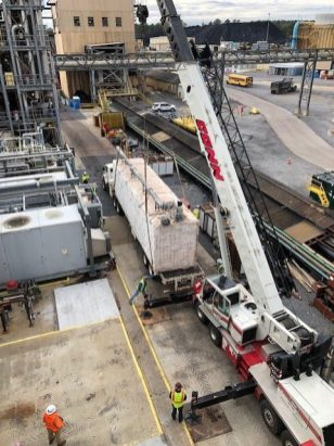 The National Carbon Capture Center in Alabama worked with CarbonBuilt using technology developed at UCLA Samueli School of Engineering to successfully test permanently storing carbon dioxide in concrete blocks. (Jo Alice Driggers / Alabama NewsCenter)
