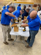 Alabama Power's Barry Environmental Stewardship volunteers gathered on July 2 to assemble the boxes. (Whitney Corgill / Alabama Power)