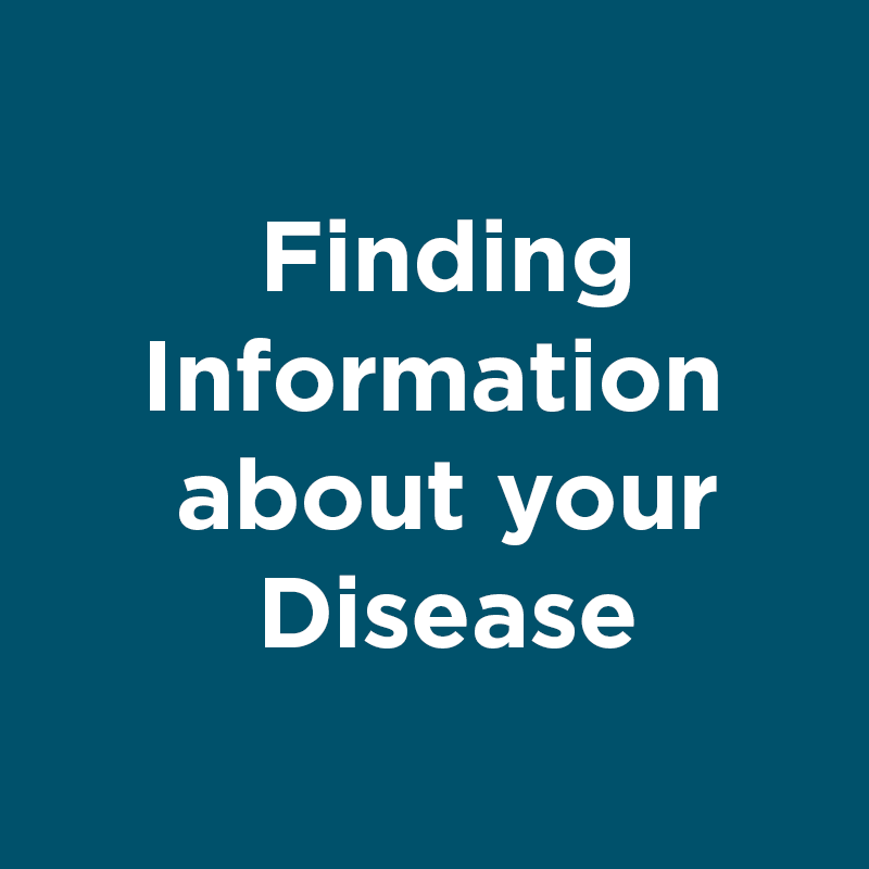 finding information about your disease