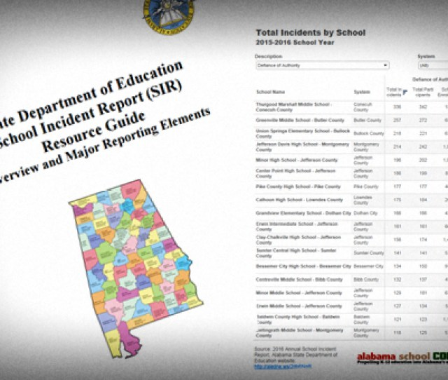 Each Summer The Alabama State Department Of Education Alsde Releases The Annual Student Incident Report Sir By School It Is A Compilation Of Numbers
