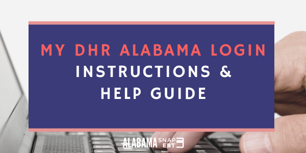 MyDHR Alabama Login Instructions