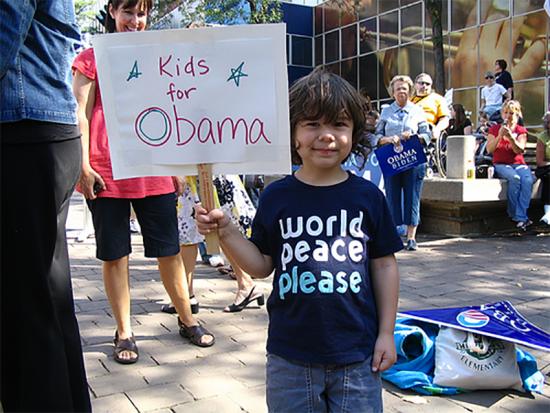 Kid for Obama