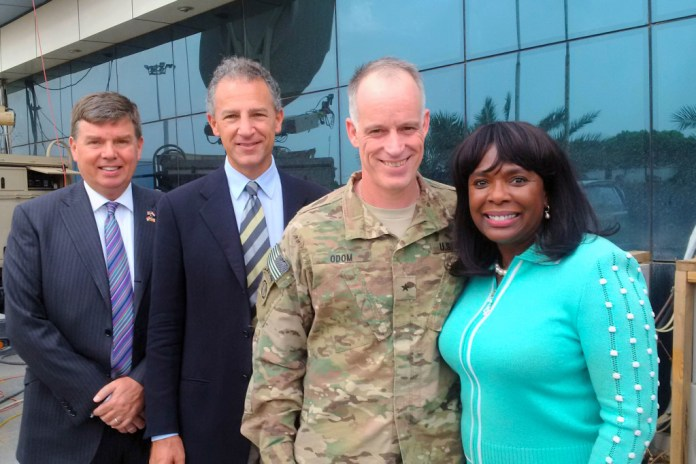 Sewell with General Odom