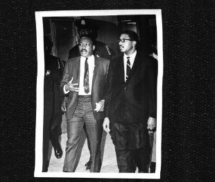 Bernard Lafayette with Martin Luther King Jr