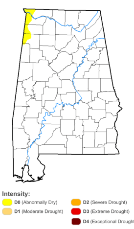 Alabama drought_5 July 2017